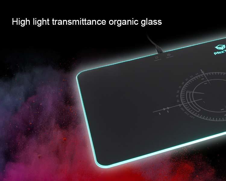 Vidrio orgánico de alta transmitancia de luz.