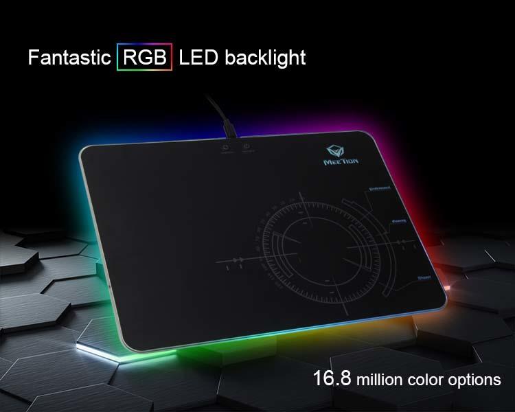 Fantástica retroiluminación LED RGB.