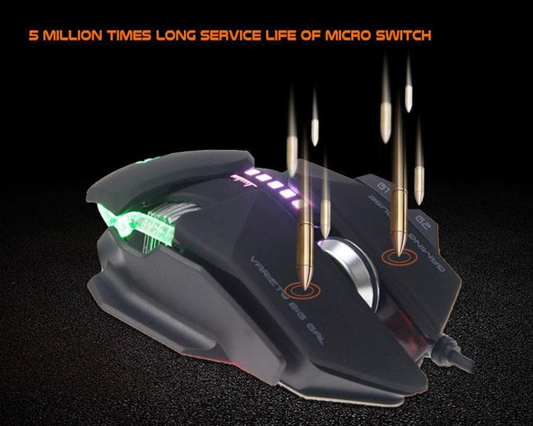 5 millones de veces de larga vida útil del microinterruptor