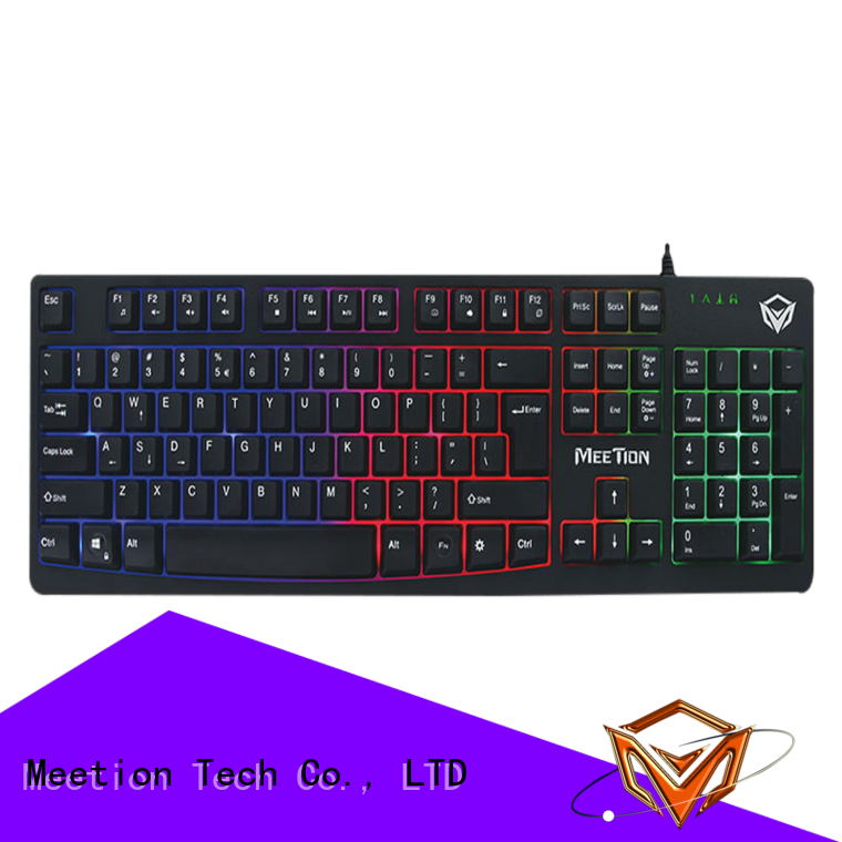 Meetion bulk purchase rgb gaming keyboard supplier