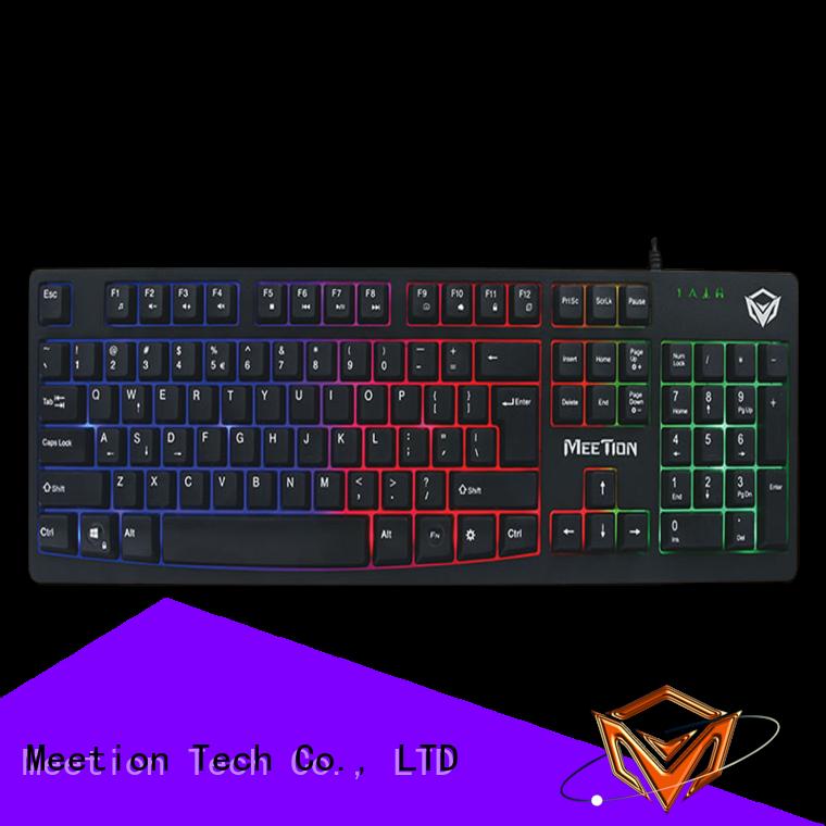 Meetion bulk purchase rgb gaming keyboard supplier