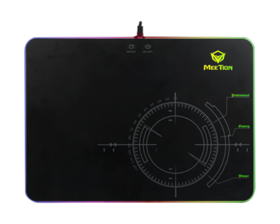 Glowing RGB LED Backlit Gaming Mouse Pad<br>P010