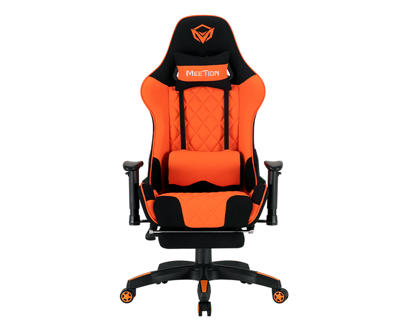 2D Armrest Massage Gaming E-Sport Chair with Footrest<br>CHR25