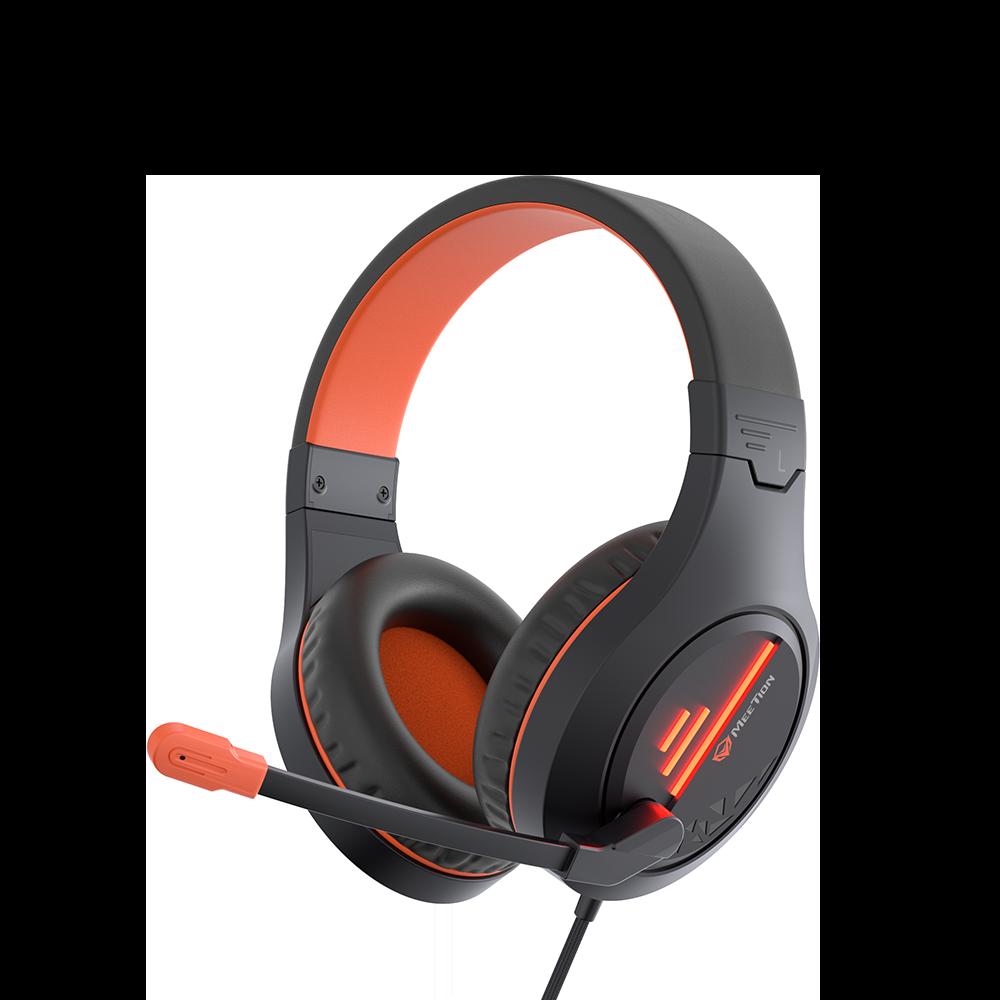 Black Orange Lightweight Stereo Backlit Gaming Headset <br> HP021