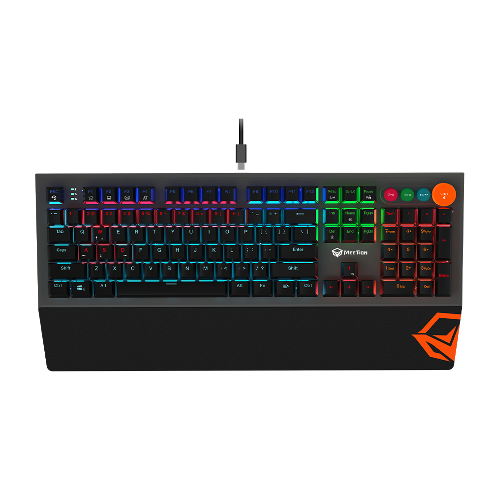 Detachable Palmrest RGB Mechanical Gaming Keyboard with Typ C Cable<br>MK500
