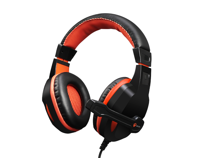 Scalable Noise-canceling Stereo Leather Wired Gaming Headset with Mic<br>HP010