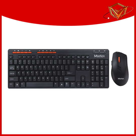 Meetion white wireless keyboard and mouse supplier