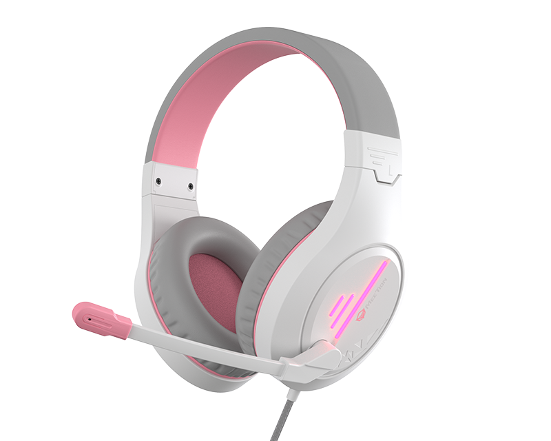 Stereo Gaming Headset White Pink Lightweight Backlit </br> HP021