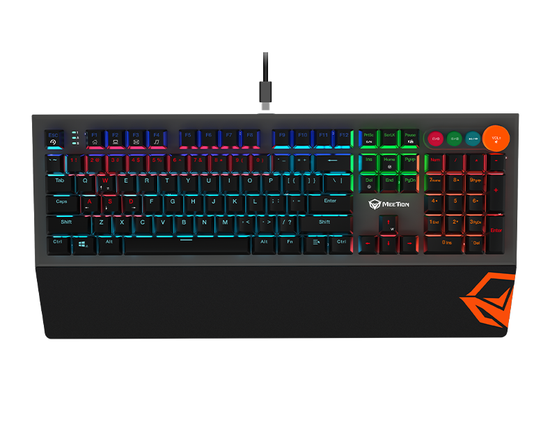 Detachable Palmrest RGB Mechanical Gaming Keyboard with Type C CableMK500