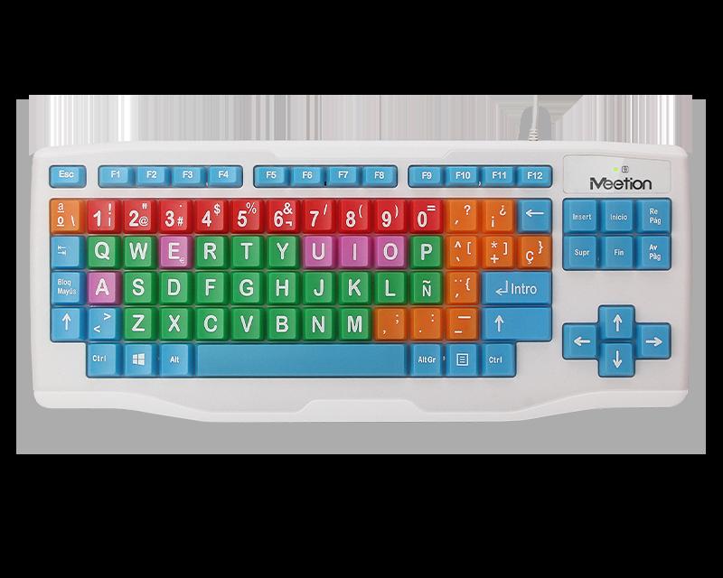 Colored Big Keys Keyboard  Kids Computer Keyboard  </br> K800