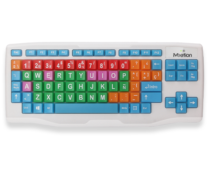 Wireless Coloured Chidren Keyboard with Big Buttons  WK800
