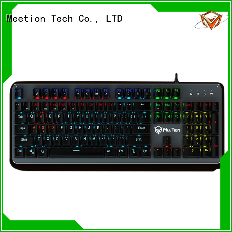 Meetion bulk purchase rgb keyboard factory
