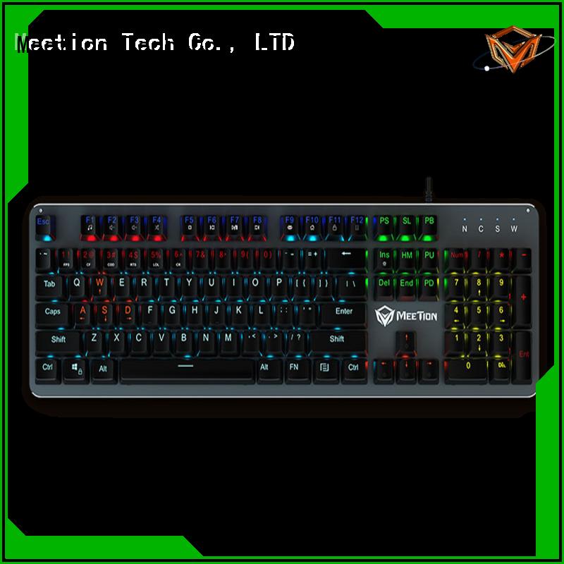Meetion bulk purchase rgb keyboard factory